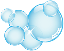 Cartoon bubbles on transparent background.